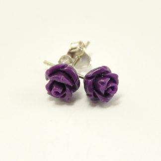 42fee5808db Lilla roos, kõrvarõngad, hõbe 925*